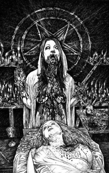 Art blood black and white jesus horror religion dark fear satan satanism darkness lucifer demon macabre 666 devil satanic antichrist occult macabre art