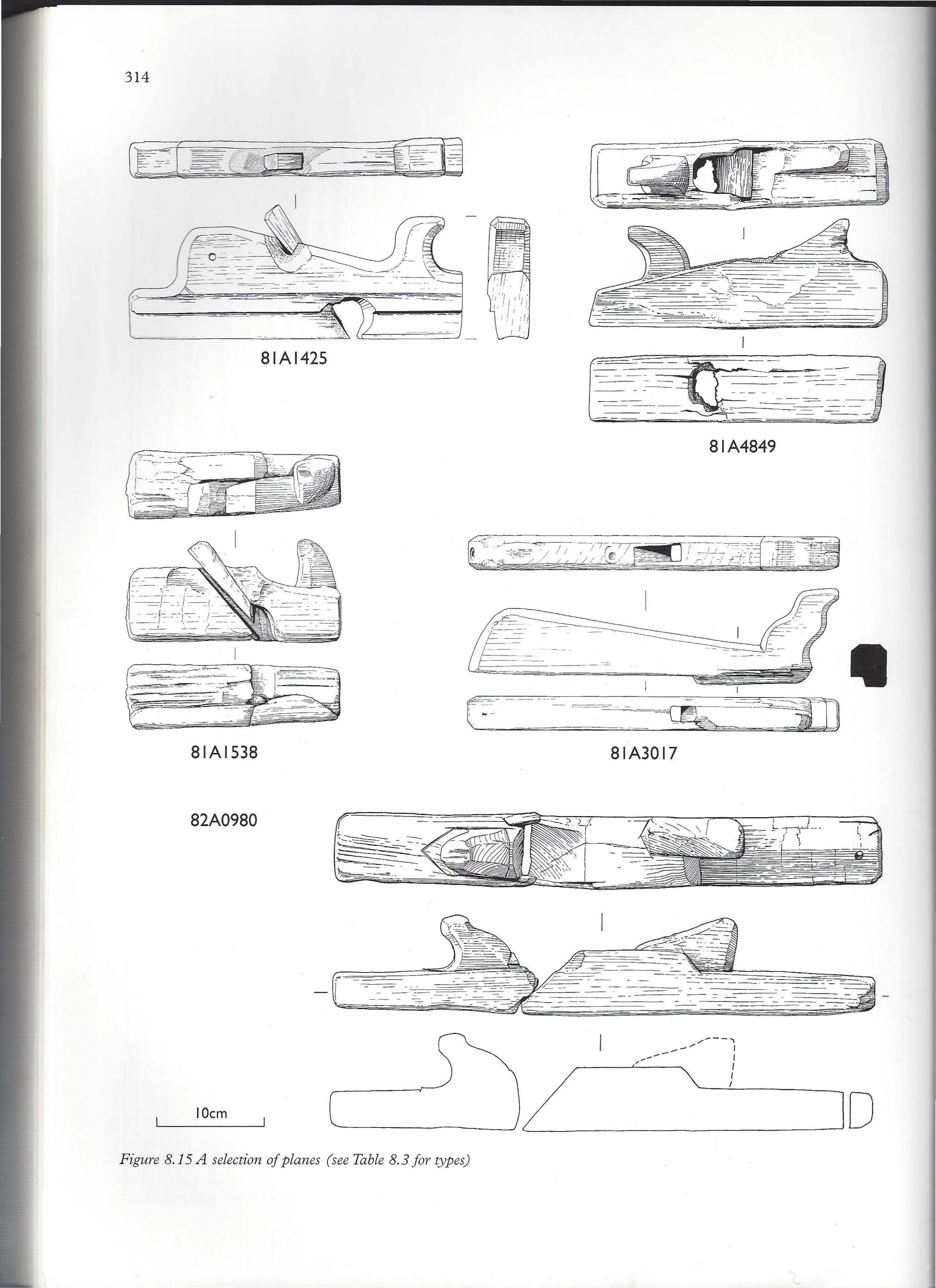 types of woodworking planes. carpenters plane from mary rose, 1545 types of woodworking planes e
