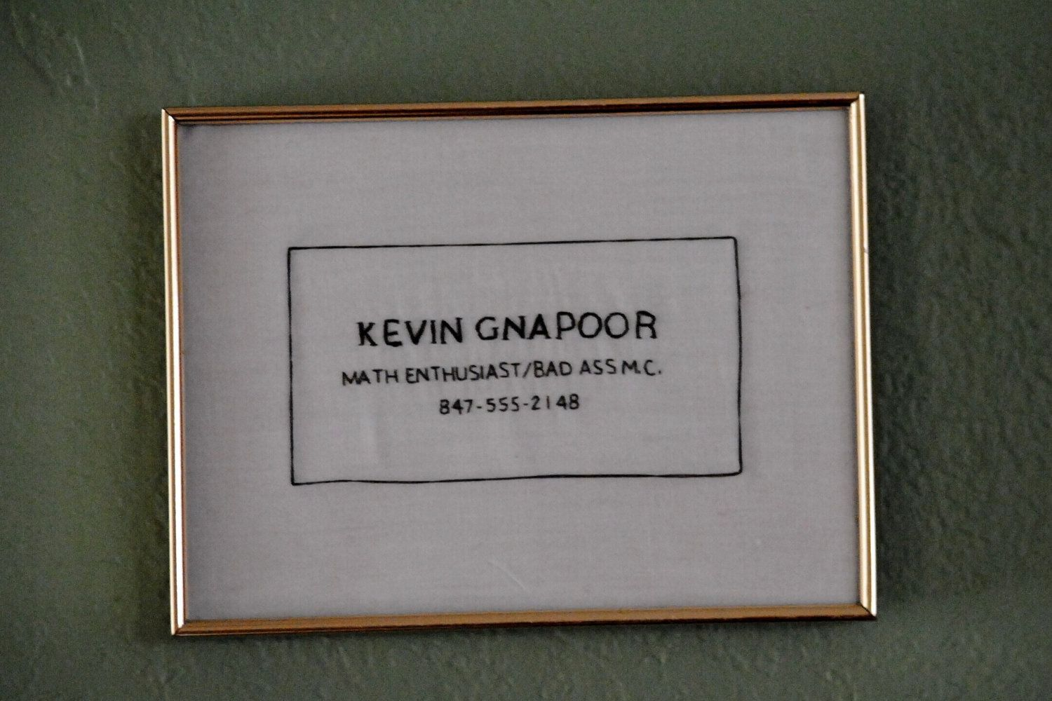 Hand-stitched Kevin G Business Card - Mean Girls Embroidery | Hand ...