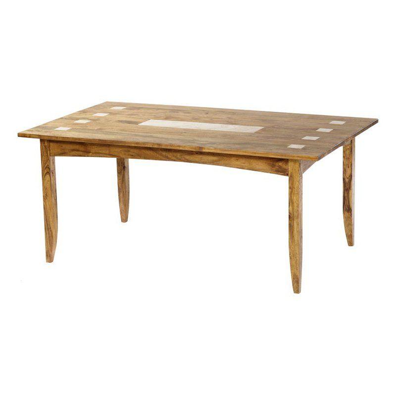Travertine Inlay Dining Table - TRA052