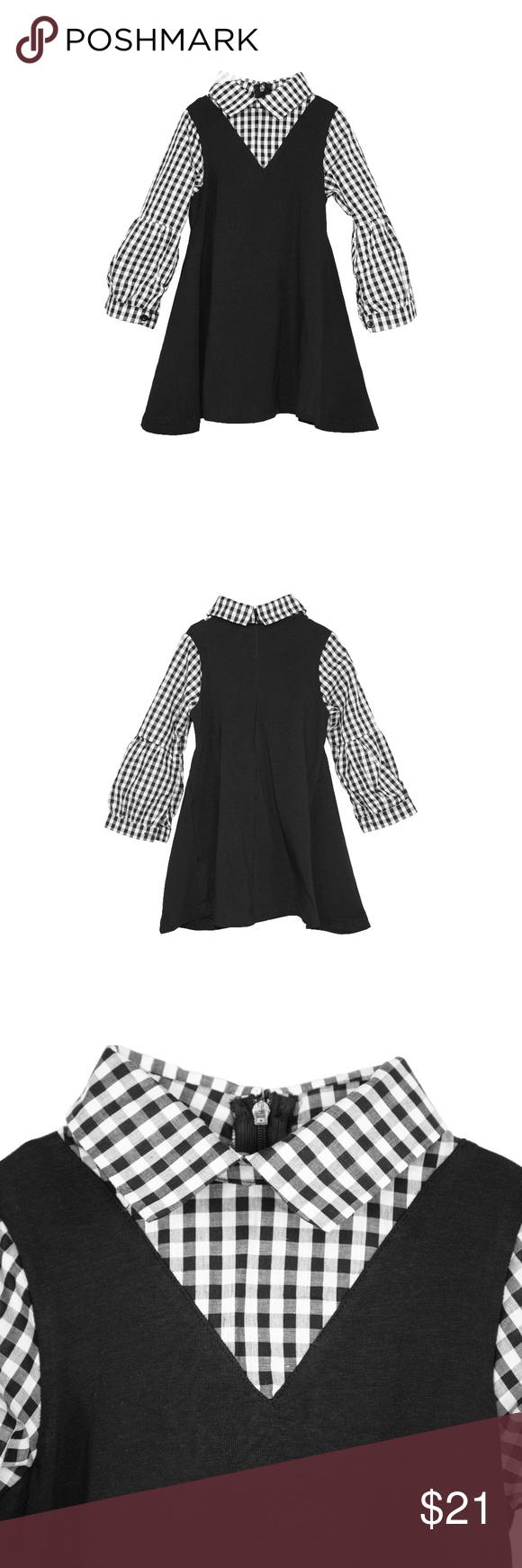 Toddler girlsu simple black plaid fer dress boutique my posh
