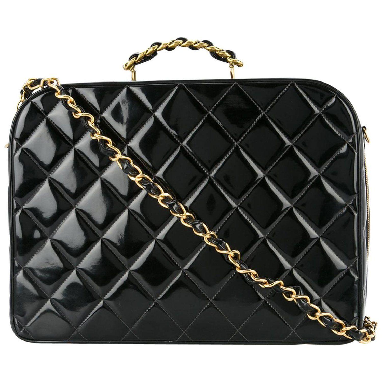 8ddf6235a500 Chanel black patent top handle lunch box carryall shoulder bag jpg  1500x1500 Chanel lunch bag box