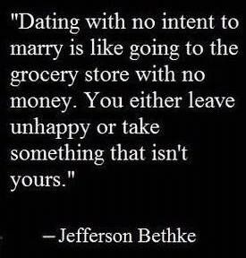 Dating with intent to marry