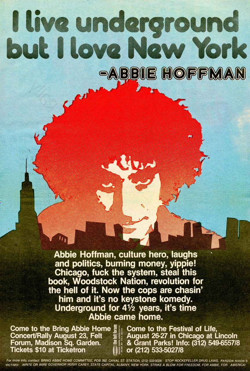 Abbie Hoffman | Flashback to the 70's | Poster prints