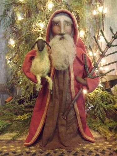 My Newest Santa With Sheep Listed On E Bay Hidden In The