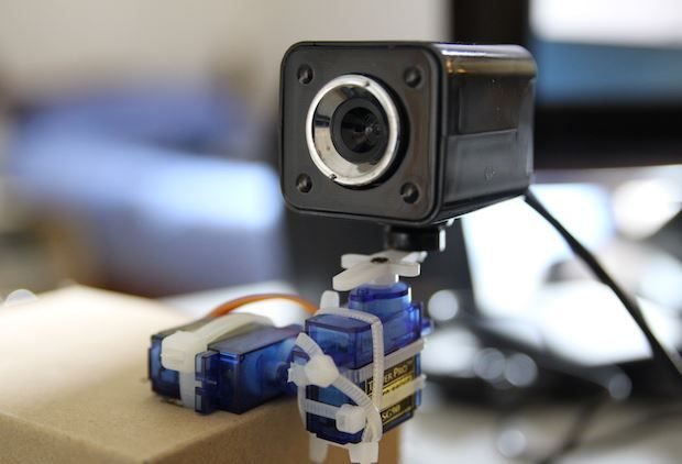Build a pan and tilt security camera with #RaspberryPi and #Arduino http:/
