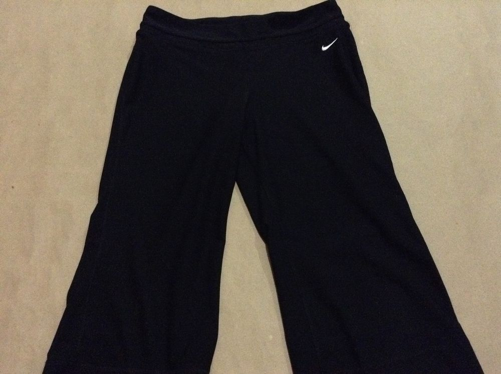 Nike Fit Dry Women's Black Pants Size M 8-10 88% Polyester 12%