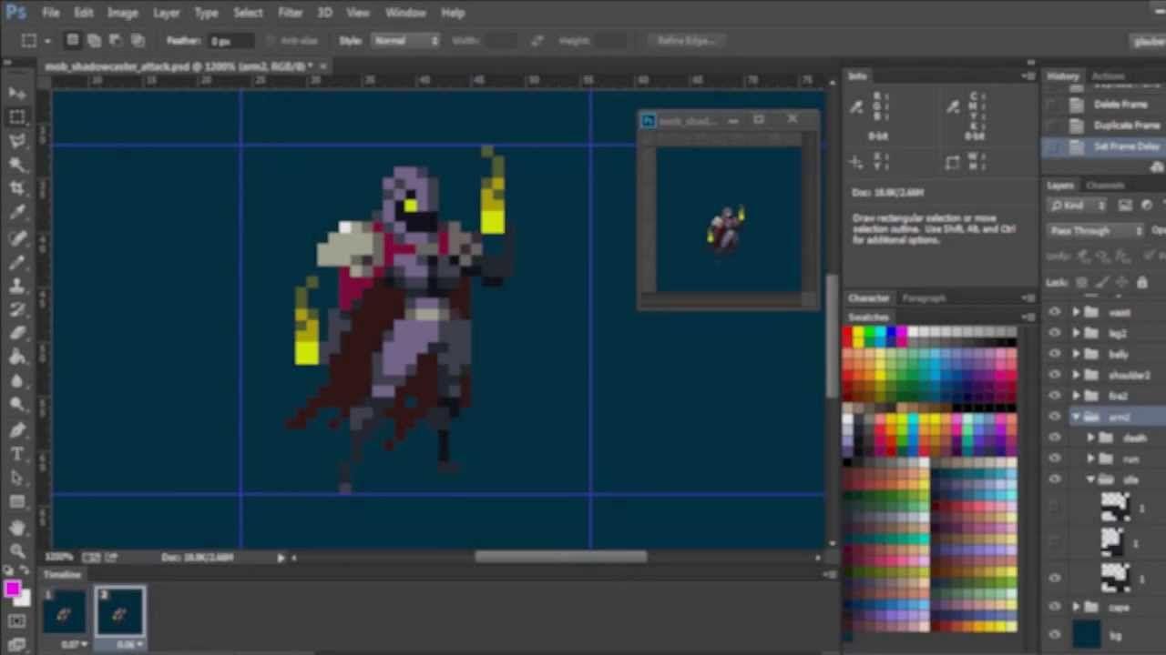 Duelyst - Pixel Art character animation demo