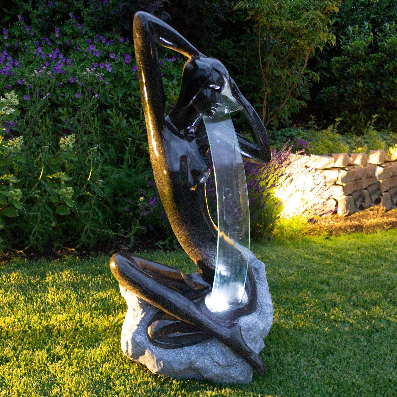 Wohaga Led Gartenbrunnen 101x52x43cm Brunnen Luftbefeuchter Zierbrunnen Fur Innen Aussen Amazon De Garten Cimento