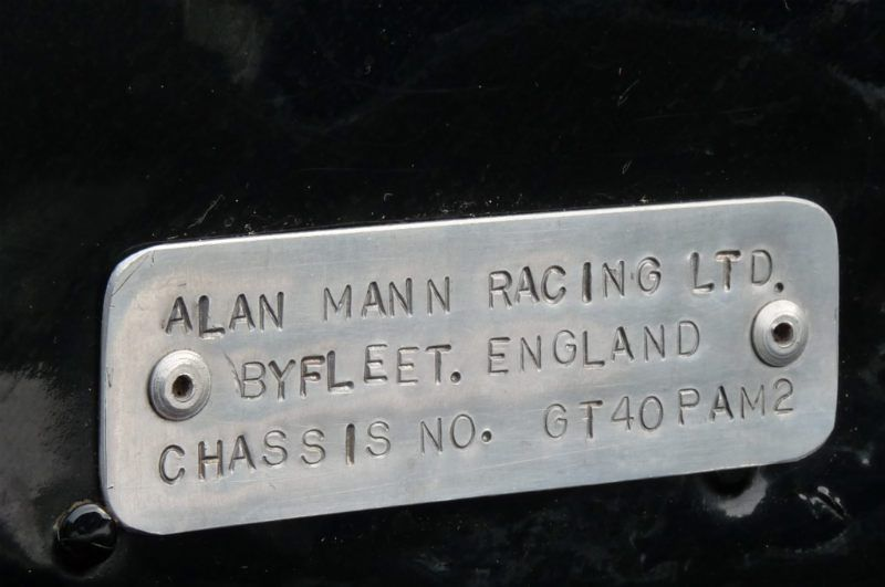 1966 Ford Gt40 Mk 1 Chassis Plate Http Www Sportscardigest Com