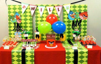 organizar una fiesta temtica de angry birds fiestas infantiles decoracion