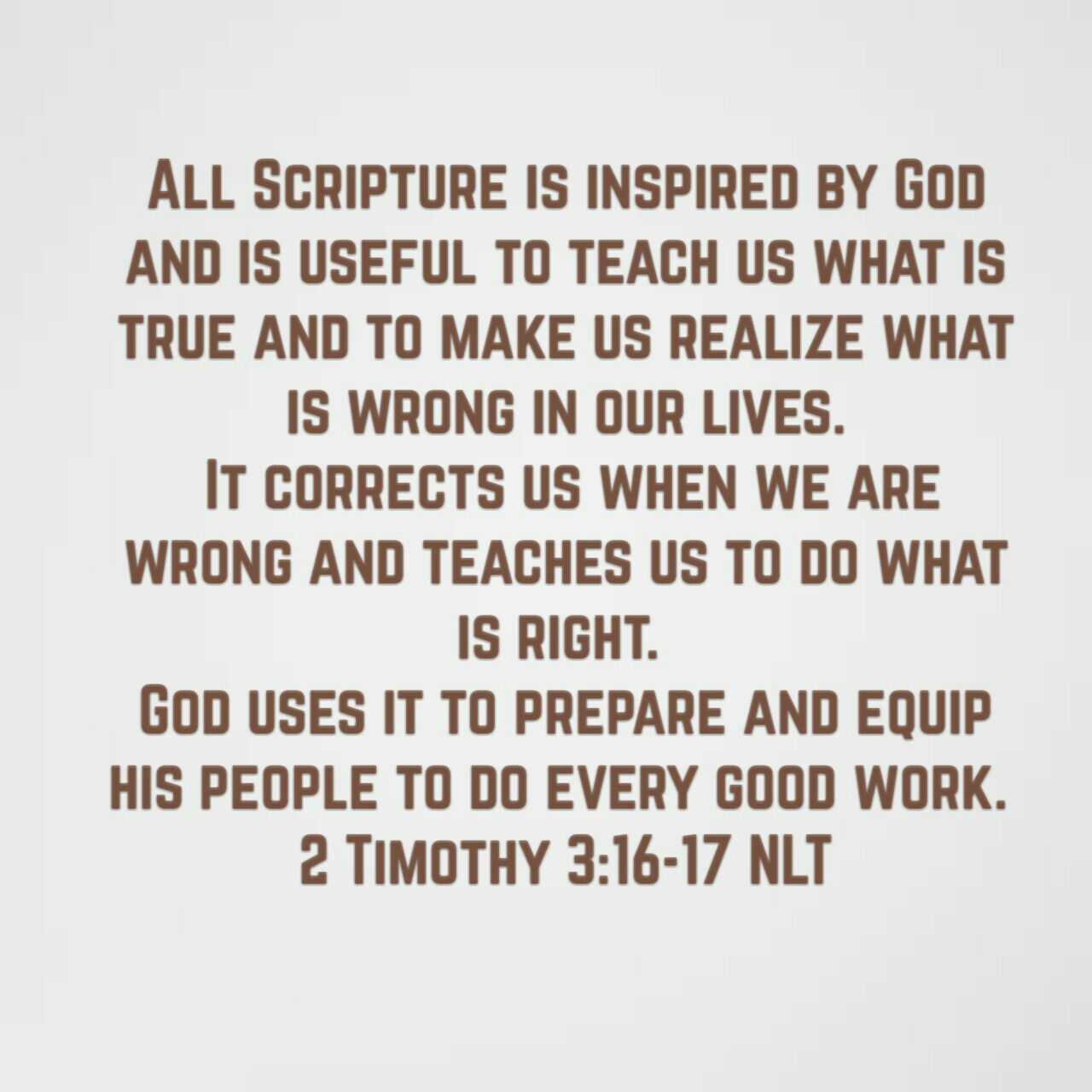 Image result for 2 timothy 3 16-17 NLT