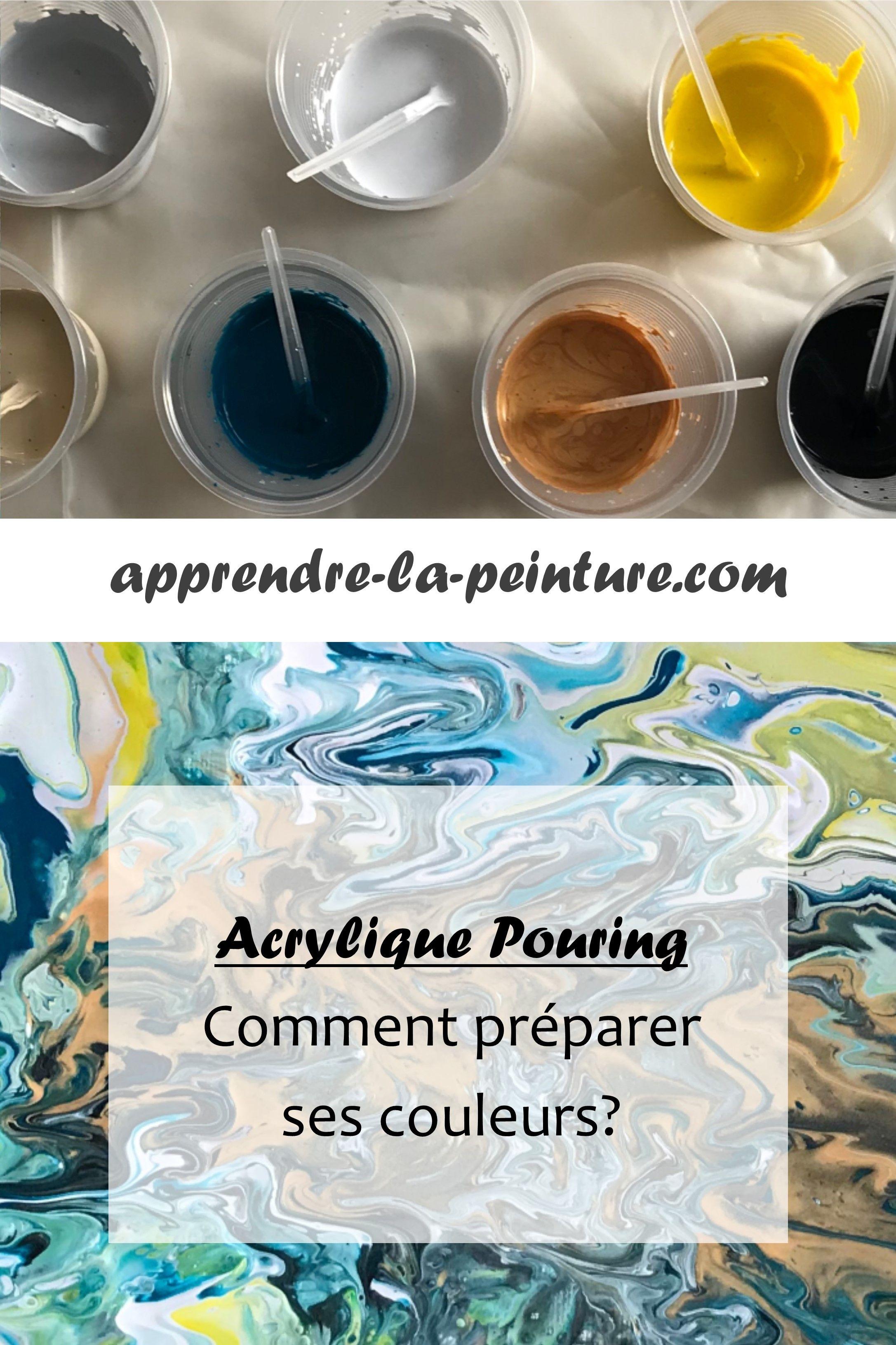 Comment Faire De La Peinture Acrylique Fluide : comment, faire, peinture, acrylique, fluide, Acrylique, Pouring, Comment, Préparer, Couleurs?, Peinture, Pouring,, Peinture,, Mélanger, Couleurs