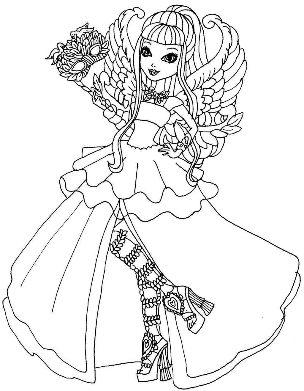 Monster High Haunted Rochelle Poppy Coloring Page Ca Cupid Thronecoming By Elfkena