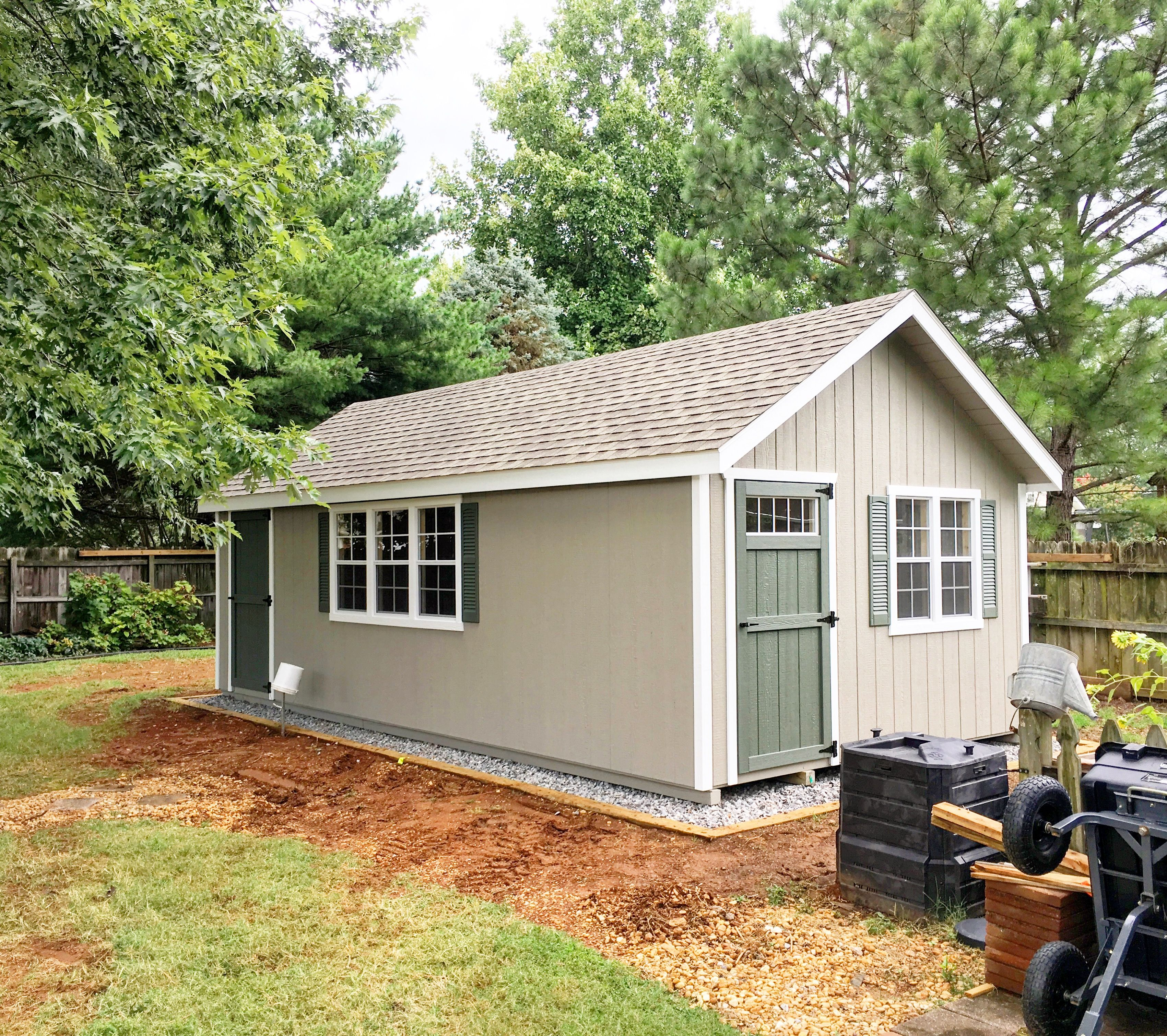 Beautiful Custom He Shed And She Shed Combo In