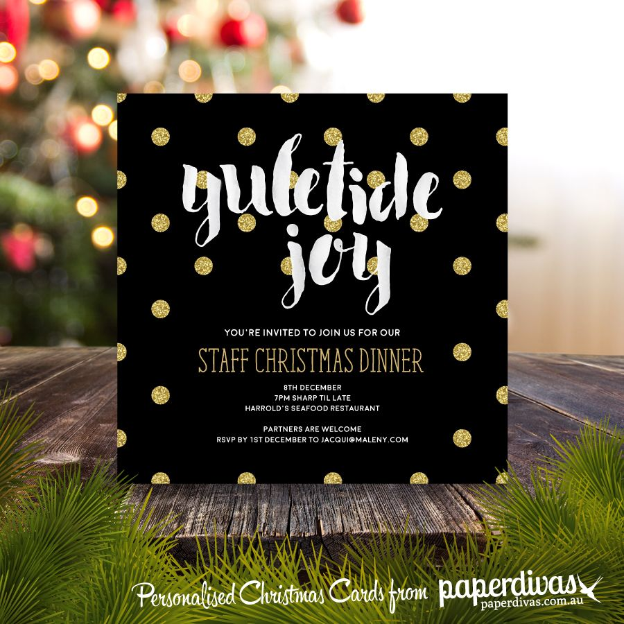 Personalise Your Own Christmas Invitations Greeting Cards