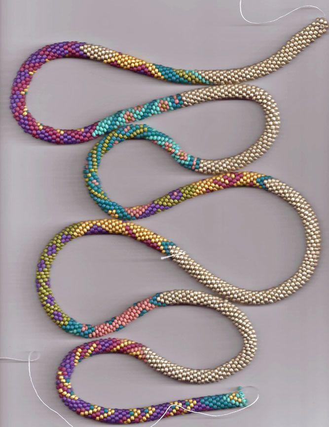 Bead Line Studios: Bead-Crochet. Could be used for tubular brick ...