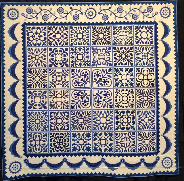 Sarah's Revival in Blue Gail Smith Quilted by Karen McTavish Design Source: Sue Garman's pattern Sarah's Revival
