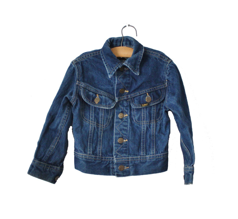 Vintage 80s Lee Jean Jacket Boy Girl Kids Children Size 6 Dark Blue Denim Coat By Bluebutterflyvintage On Etsy Blue Denim Coat Clothes Design Denim Coat [ 1378 x 1500 Pixel ]