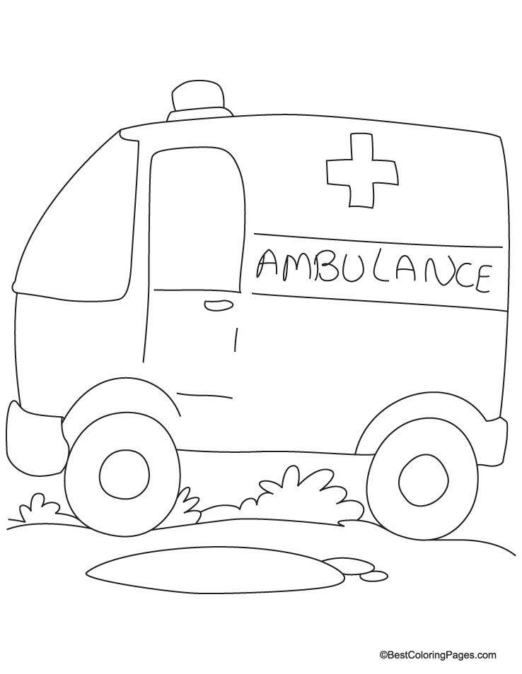 ambulane van coloring page download free ambulane van coloring page for kids best coloring