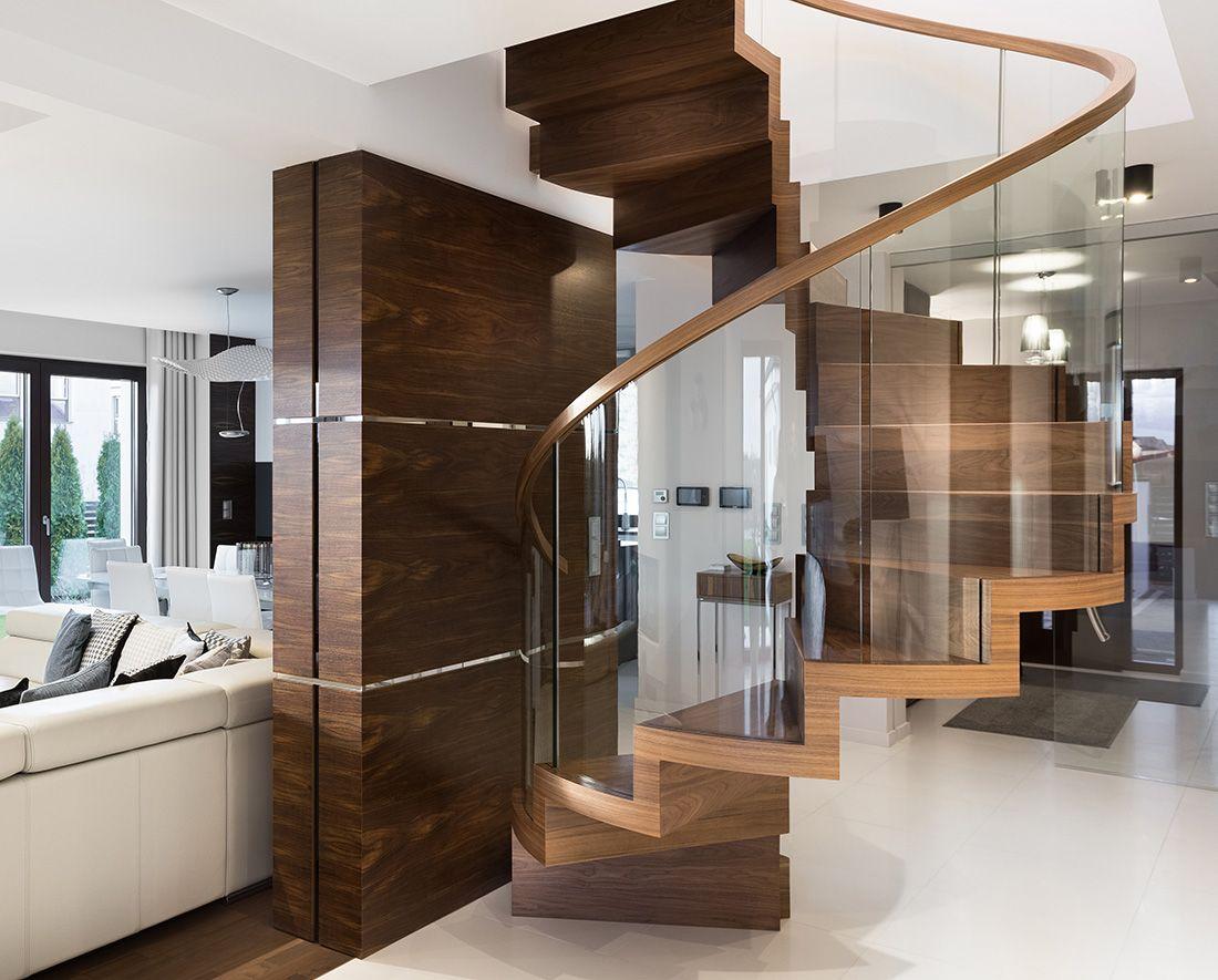 Best St880Zigzag Spiral Stair Made In American Walnut Bent 640 x 480