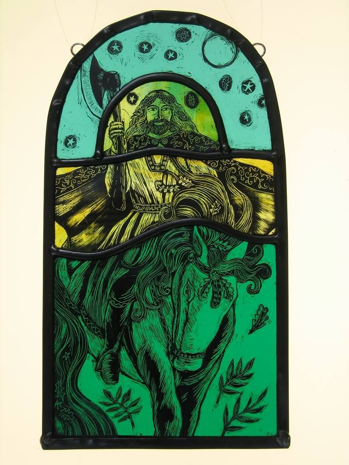 The Green Knight By Stained Glass Artist Tamsin Abbott Stained