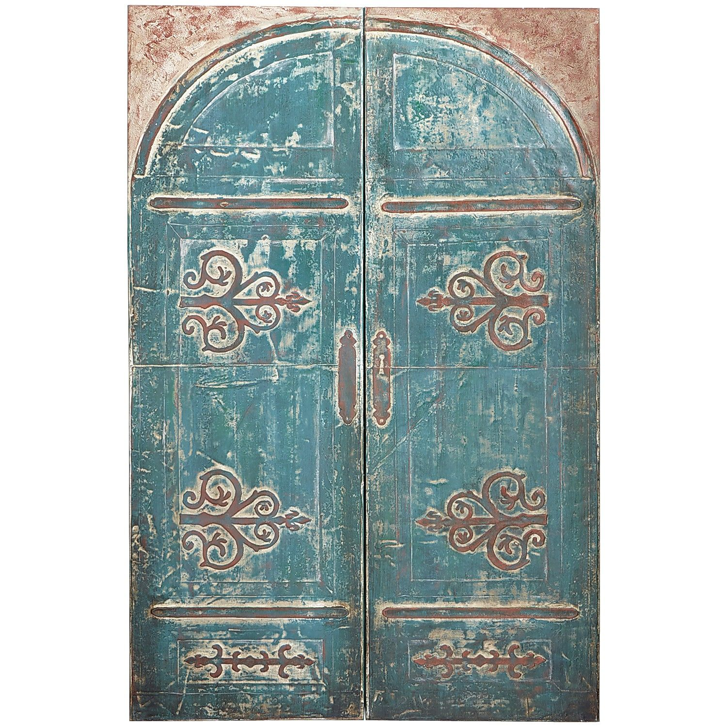 Teal arched doors art decor ue artwork pinterest arch and teal