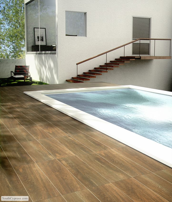 Wood Look Porcelain Tile The Next Generation Wood Look Tile Pool Tile Backyard