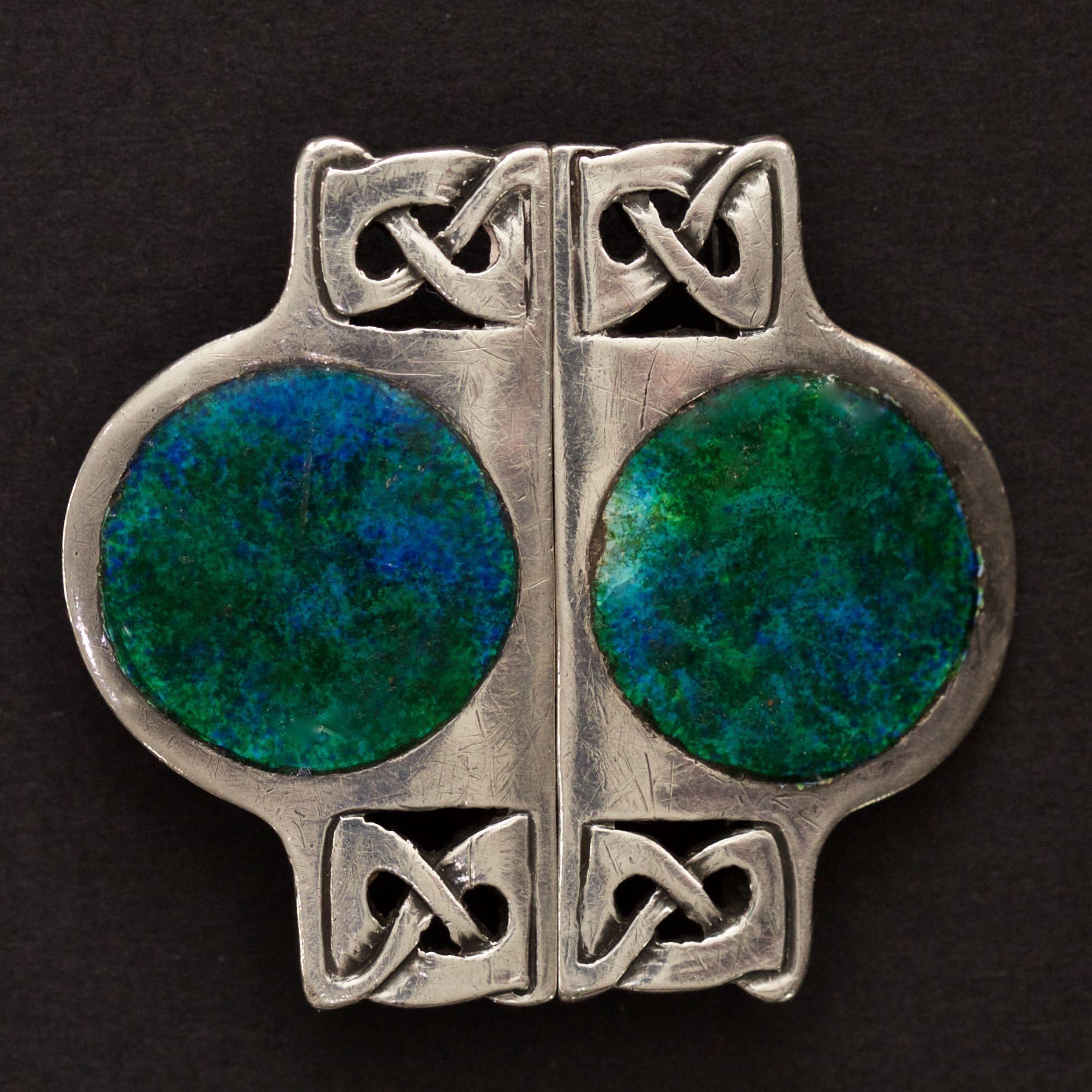 Vintage & Antique Jewelry Antique Silver Enamel Art Nouveau Buckle C1907 By William Hair Haseler Liberty Antiques