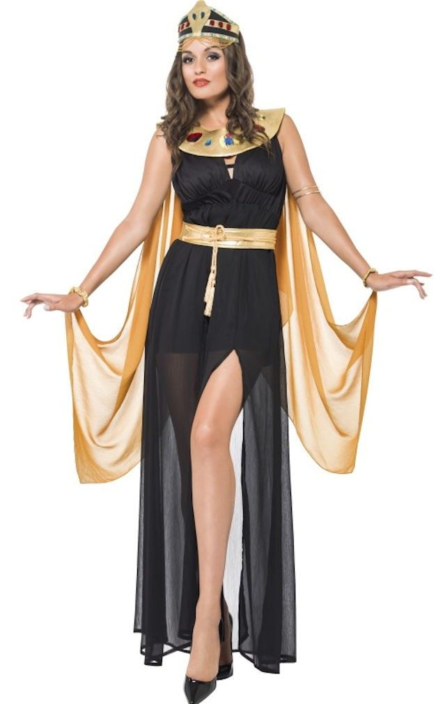 Adult/'s Cleopatra Egyptian Goddess Queen Fancy Dress Halloween Party Costume