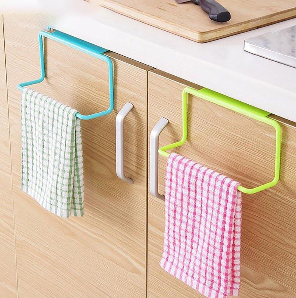 1x Bathroom Kitchen Rack Over the Cabinet Towel Bar Holder Storage Shelf Holder