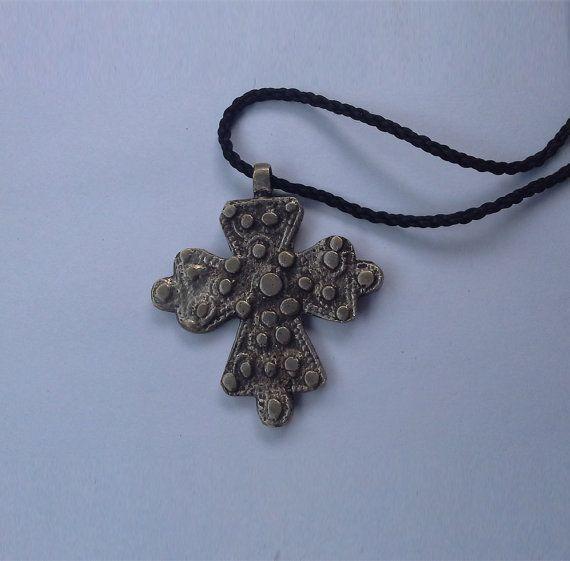 Ethiopian Coptic Cross African pendant African cross by LiyaWear