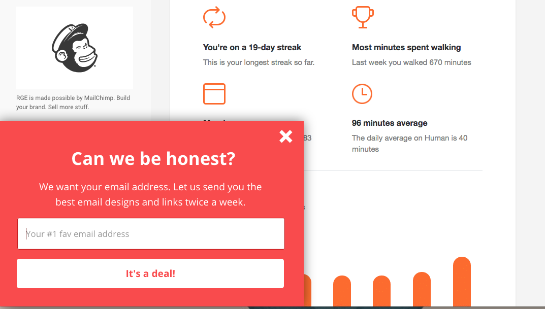 Really Good Emails pop up modal Best email, Build your
