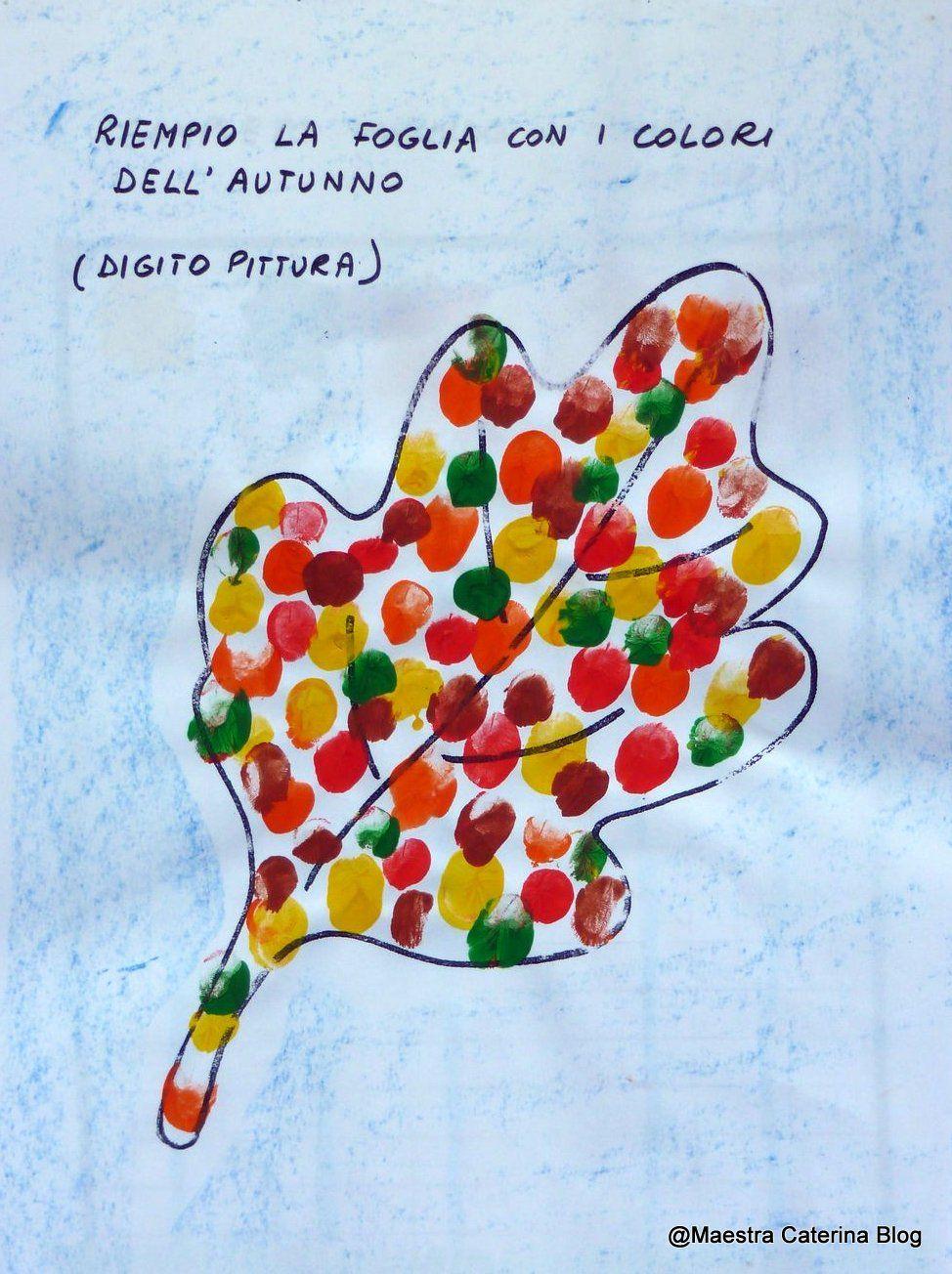 Maestra caterina autunno il libro della foglia rossella - Modello di foglia per bambini ...