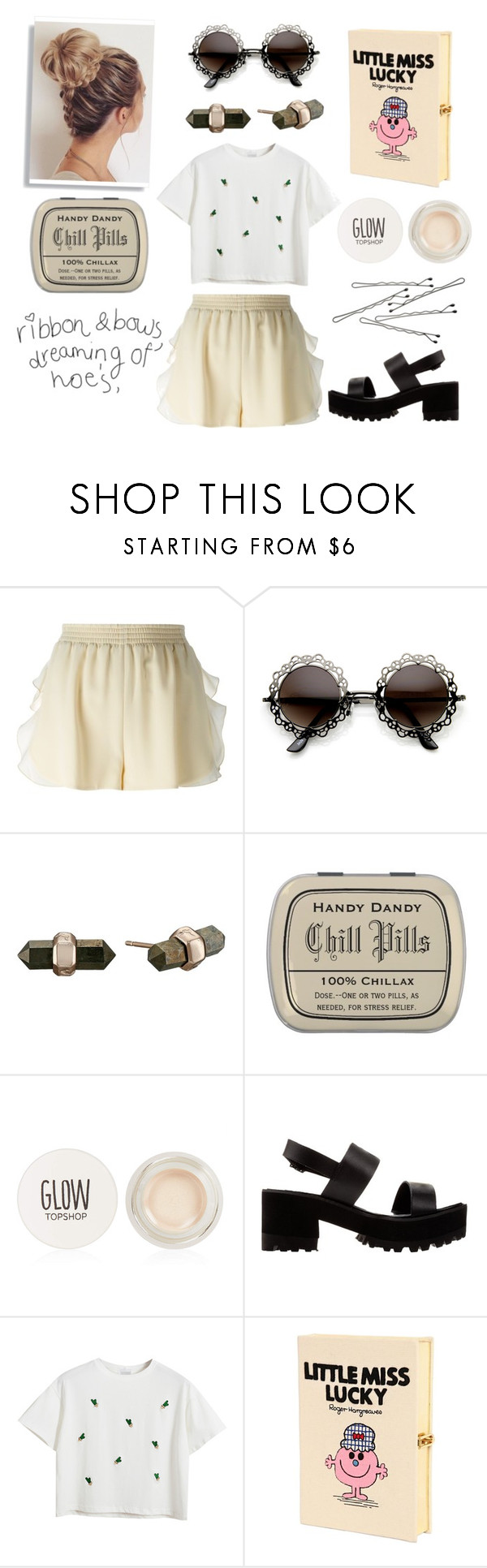 """""""Lucky~"""" by deep-quotes ❤ liked on Polyvore featuring STELLA McCARTNEY, Kendra Scott, Topshop, River Island, Chicnova Fashion, BOBBY and Olympia Le-Tan"""