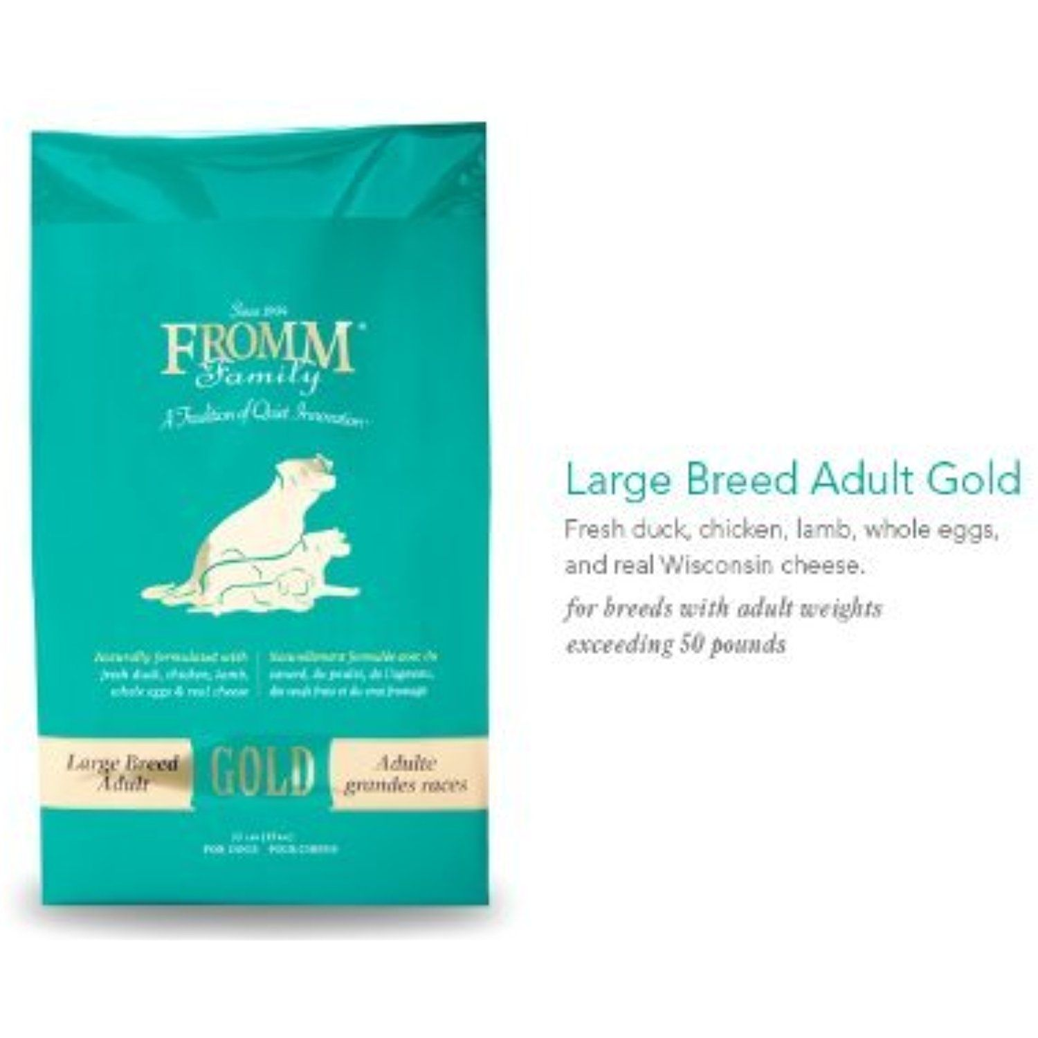 Fromm Family Foods 33 Lb Adult Gold Large Breed Formula Dry Dog