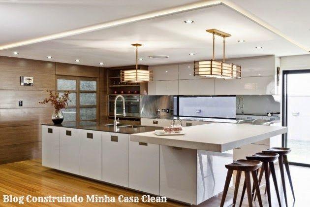 12 cozinhas de luxo modernas veja dicas e modelos for Modelos de gabinetes de cocina