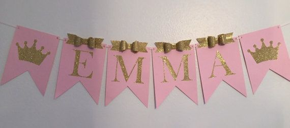 princess birthday banner crown name by fancyfunctiondesigns 誕生日