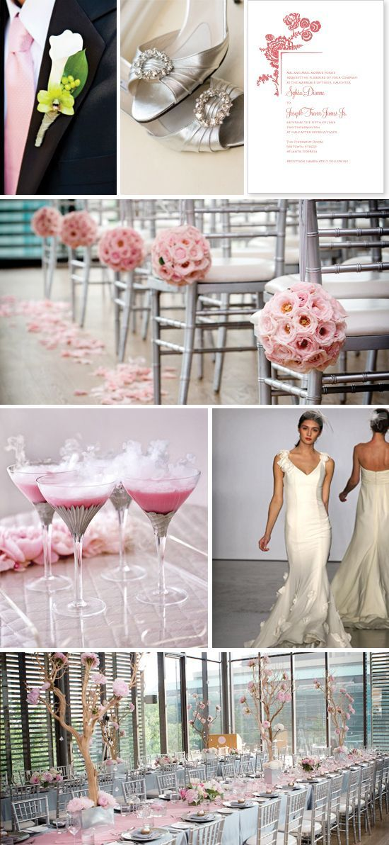 Blush Silver Wedding Pink And