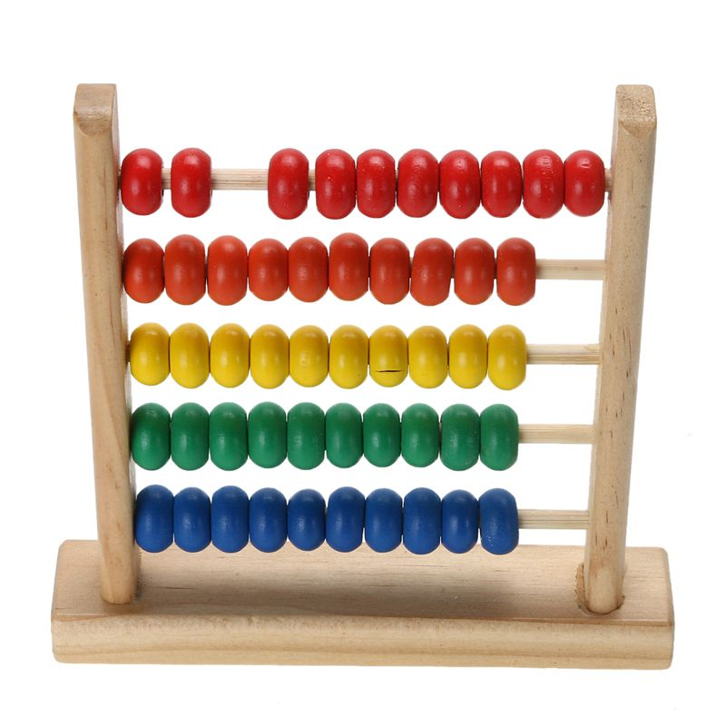 Goki Wooden Calculator Playset Blue