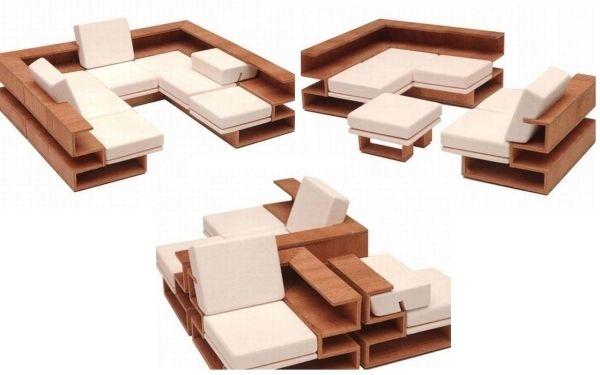 modulares sofa design für kleine räume Zimmer Pinterest - designer einrichtung kleinen wohnung