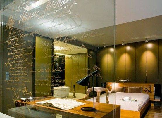 hand written bedroom glass wall. | Future Home Renovation Ideas ...
