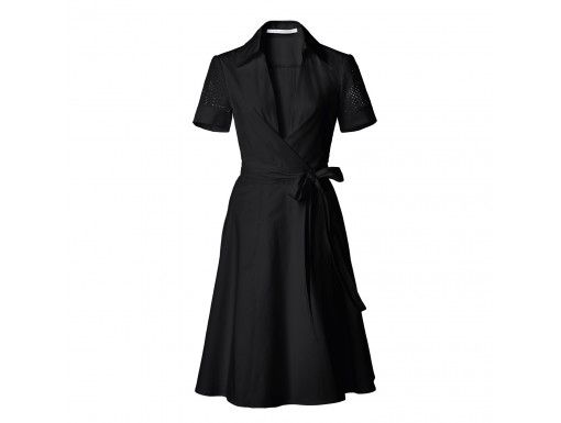 Black Wrap Dress | Diane von Furstenberg | Goop.com