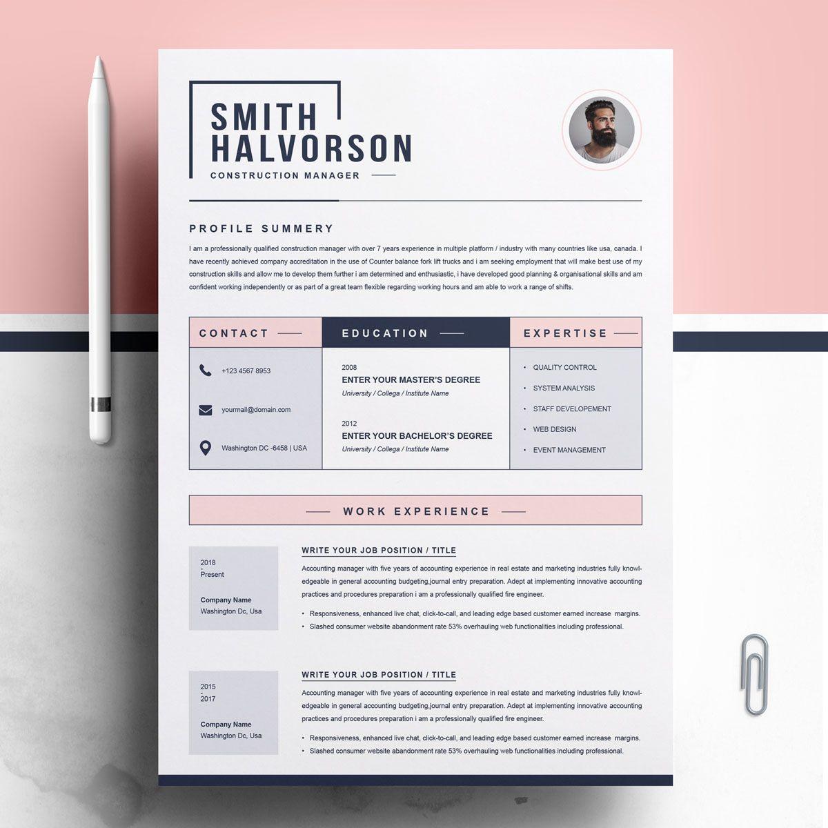Smith Halvorson Resume Template 77956 Creative resume