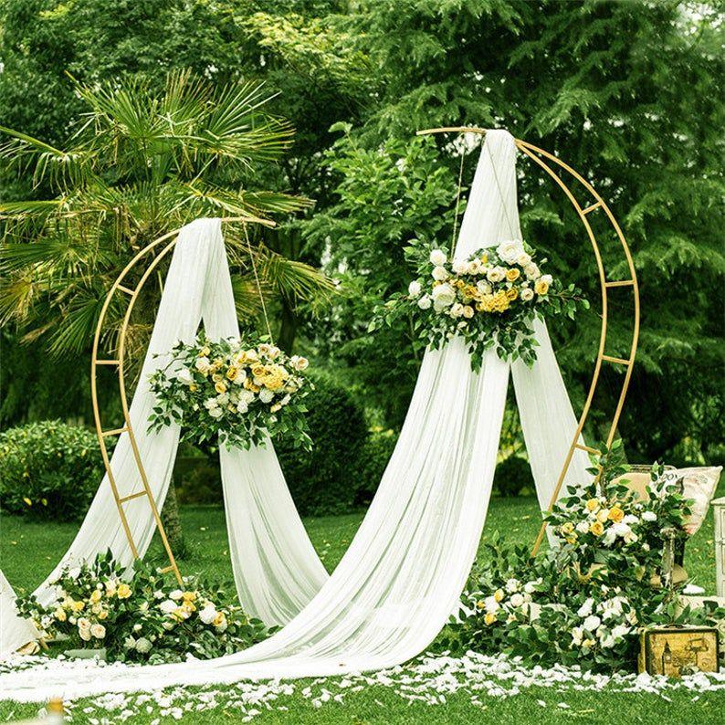 Heart wedding arch moon gate wedding stage ceremony