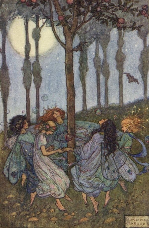 Ring around the rosy under the moon... by Florence Harrison