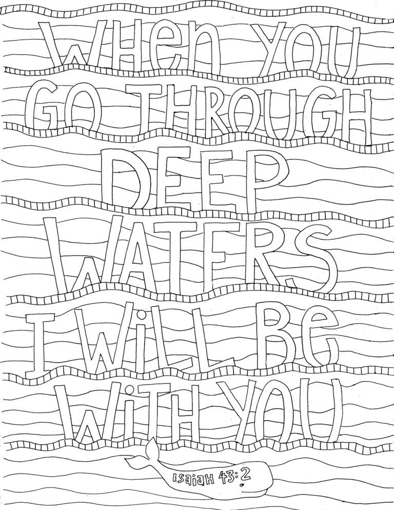 Isaiah 43 2 Coloring Page From Victory Road Coloring Pages