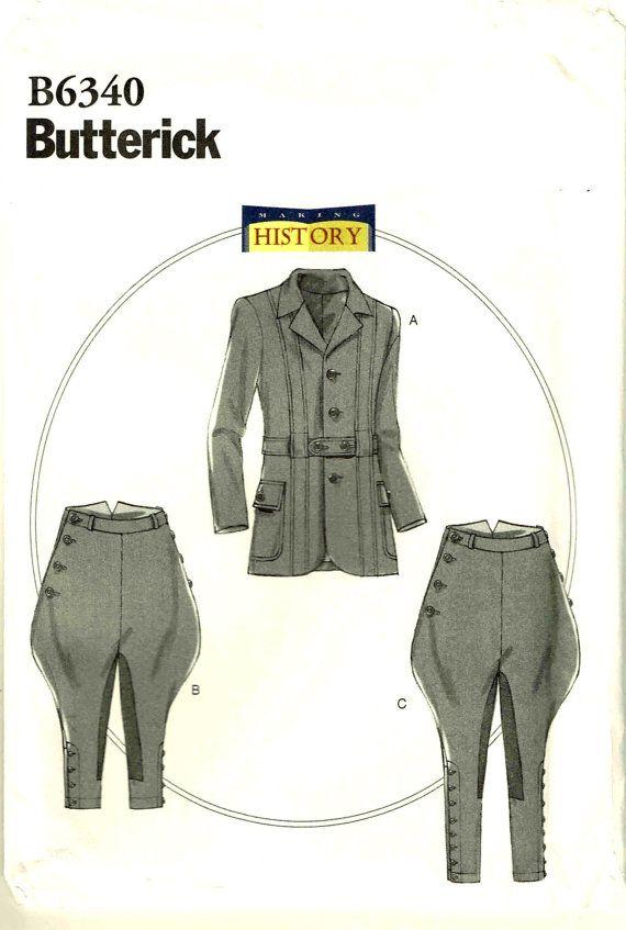 Men Jodhpurs Breeches Banded Jacket Edwardian Making History Sewing ...