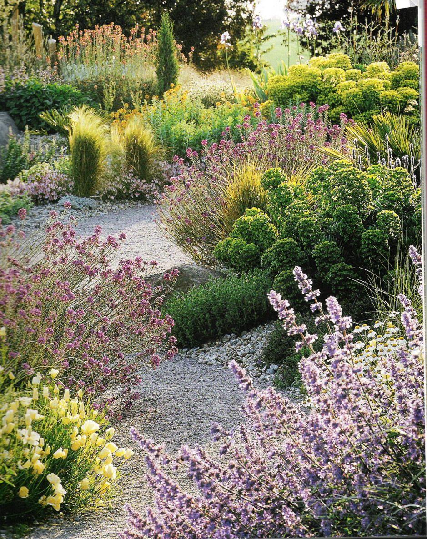 Natural garden landscape  Beautiful layout and plant choices  Garden ideas  Pinterest