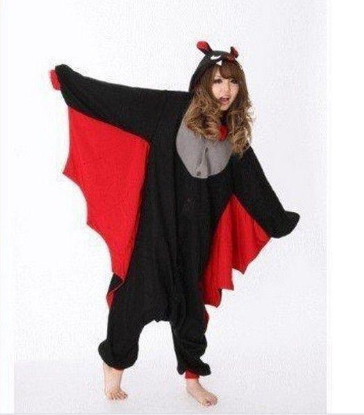 2014 New Arrival JP Anime Animal Bat Pajamas All in one Pyjamas Animal Cosplay Costume